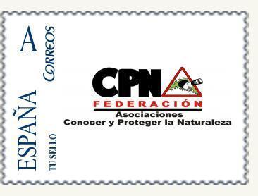 Sello de correos FCPN - 15 aniversario