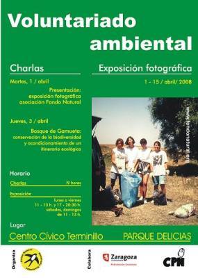 Exposición fotográfica y charlas sobre voluntariado ambiental en Zaragoza
