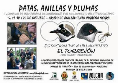 """El CPN- COCN organiza las II Jornadas """"Patas, anillas y plumas"""""""