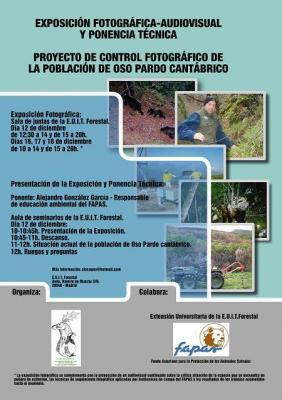 Charla sobre control fotográfico de Osos, por el FAPAS en Madrid