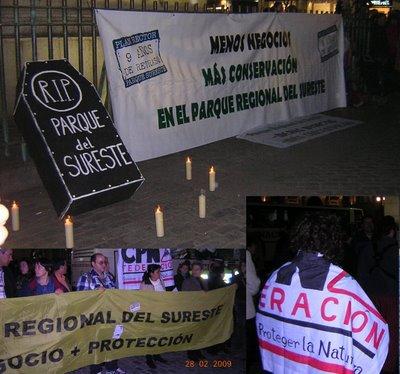 CPN- Alerce y FCPN presentes en las protestas por el nuevo Plan Rector de Uso y Gestión del Parque Regional del Sureste